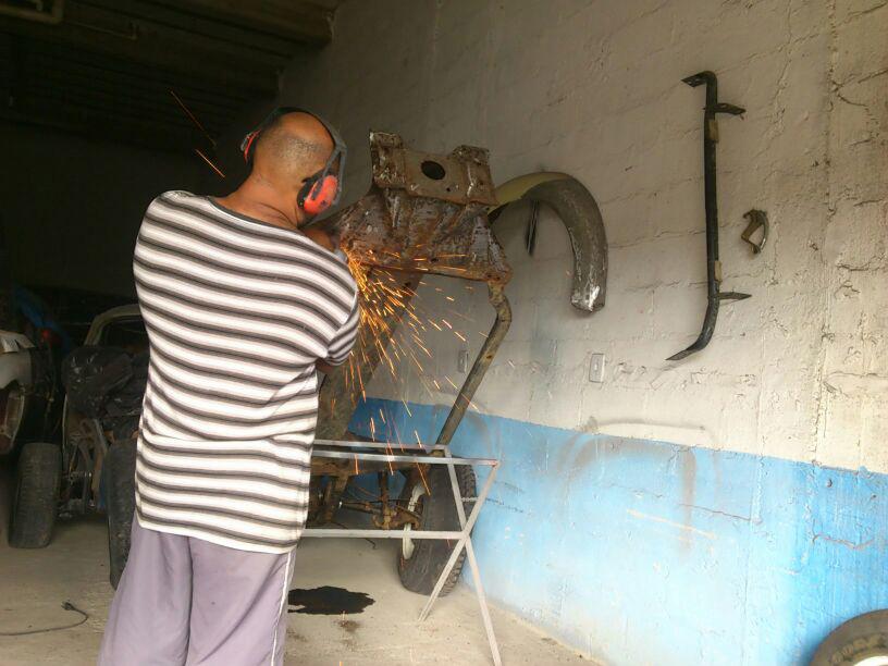 Restauração do Bugre IV Heverton_chassi